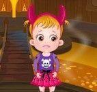 Bebê Hazel castelo do Halloween