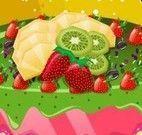 Decorar bolo de frutas