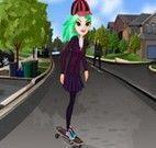 Roupas da garota no skate