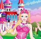 Vestir e maquiar Barbie no castelo
