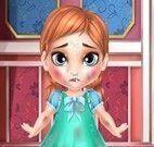 Bebê Frozen no médico