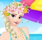 Elsa dia na praia