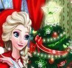 Elsa decorar casa para Natal