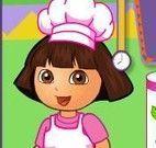 Dora na lanchonete