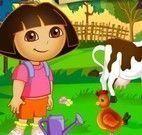 Dora cuidar da fazenda