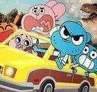 Gumball dirigir na cidade