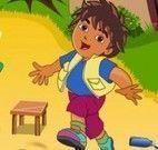 Dora e Diego limpar quintal