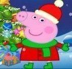 árvore de natal Peppa Pig