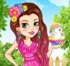 Vestir menina festa da Páscoa