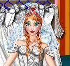 Anna vestido de noiva e maquiagem