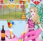 Barbie limpar festa de aniversário