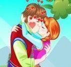Anna e Kristoff beijo de namorados