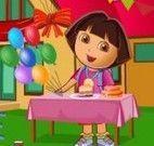 Dora limpeza da festa de aniversário