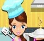 Ajudar a cozinheira a servir