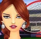 Maquiagem da jogadora de tênis