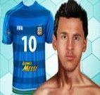 Decorar camisa do jogador Messi
