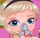 Bebê Elsa alergia na pele