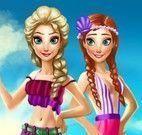 Anna e Elsa na praia