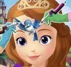 Princesa Sofia fazer tatuagem