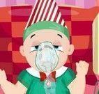 Bebê no hospital no natal