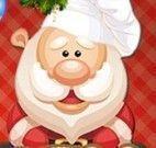 Papai Noel fazer bolo de Natal