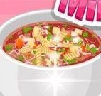 Receita de sopa de verduras com massa