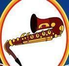 Colorir livro de instrumentos musicais