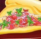 Decorar fatia de pizza