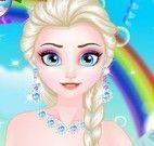 Elsa festa de casamento no castelo