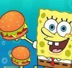 Canhão Bob Esponja pegar hamburguer