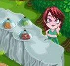 Servir comidas na floresta