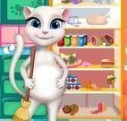 Angela limpar geladeira