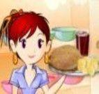 Fazer sanduíche de frango barbecue com Sara