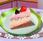Fazer torta gelada de frutas vermelhas