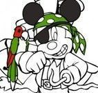 Colorir Mickey pirata