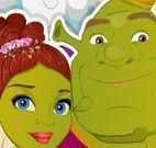 Fiona e Shrek no spa