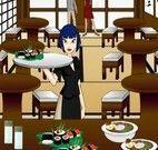 Garçonete do restaurante japonês