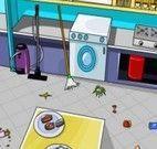 Limpar a bagunça na cozinha