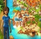 Menina 3D fugindo dos índios