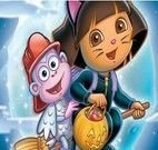 Montar puzzle da Dora no halloween