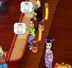 O aprendiz no restaurante japonês