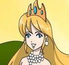 Pintar desenho da princesa no castelo