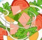 Preparo de salada completo