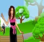 Shakira para passear na praça