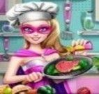 Super Barbie preparar carne