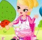 Vestir bebê no parque