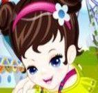 Vestir menininha no parque